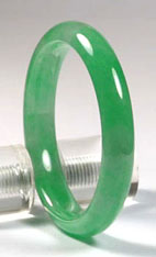 Natural A grade jadeite jade bangle, an example of jade jewelry carving and jade bangles found on my site.