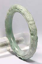 Jade-Bangle-60ag My jade jewelry collection  Natural A grade jadeite jade bangle, an example of jade jewelry and carved jade bangles on my site.