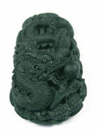 Jade-Pendant-dragon-763ag My jade jewelry collection Natural Jade, jadeite dragon pendant carved by hand jade pendant. Black jade which is very dark green.